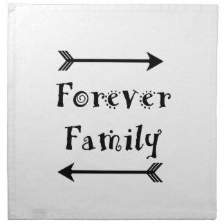 Servilleta De Tela Para siempre familia - diseño de Adpotion