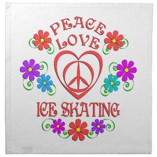 Servilleta De Tela Patinaje de hielo del amor de la paz