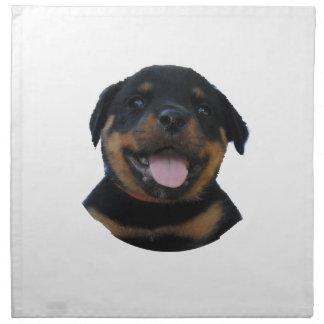 Servilleta De Tela Perrito masculino feliz de Rottweiler