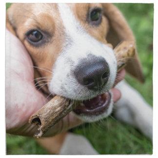 Servilleta De Tela Perro con el palillo