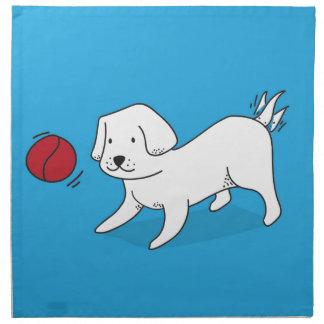 Servilleta De Tela Perro que juega con una bola