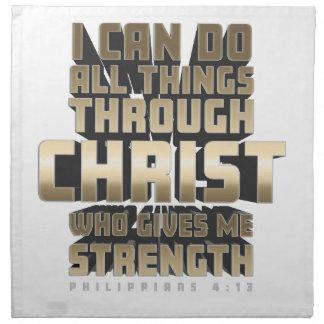 Servilleta De Tela Phil4: 13 puedo hacer todas las cosas a través de