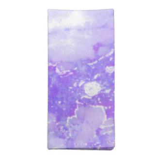 Servilleta De Tela Piedra de mármol nublada de la lavanda púrpura