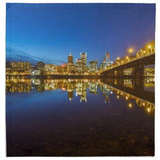 Servilleta De Tela Portland U hora céntrica del azul del horizonte de