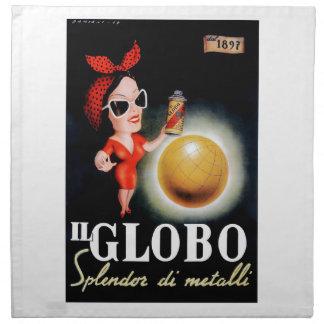 Servilleta De Tela Poster italiano 1949 de la publicidad de IL Globo