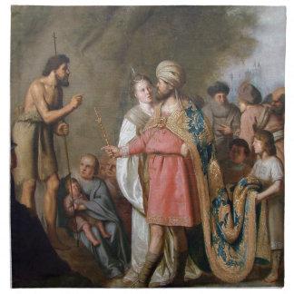 Servilleta De Tela Predicación de San Juan Bautista