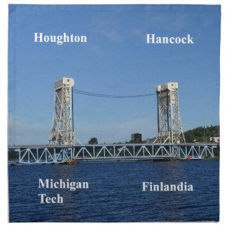 Servilleta De Tela Puente de elevación del lago Portage