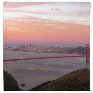 Servilleta De Tela Puente Golden Gate San Francisco en la salida del