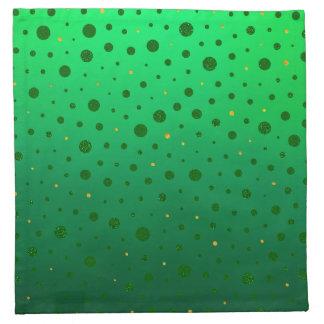 Servilleta De Tela Puntos elegantes - oro verde - el día de St