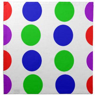 Servilleta De Tela Púrpura roja del verde azul del diseño del círculo