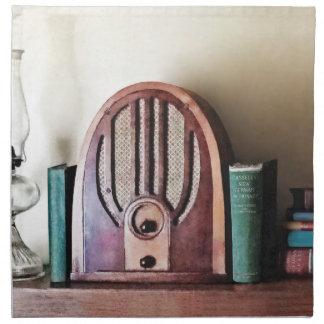 Servilleta De Tela Radio de los años 30 del vintage