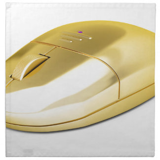 Servilleta De Tela Ratón inalámbrico de oro