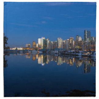 Servilleta De Tela Reflexión azul de la hora de Vancouver A.C.