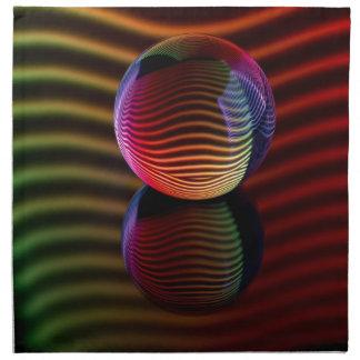 Servilleta De Tela Reflexiones en la bola de cristal