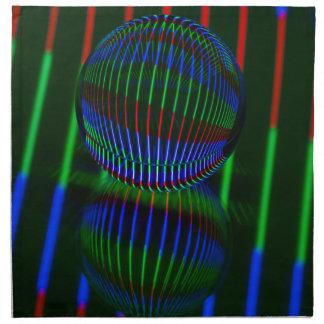 Servilleta De Tela Rojo, verde, azul en la bola de cristal