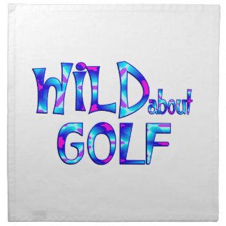 Servilleta De Tela Salvaje sobre golf