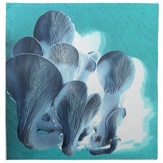 Servilleta De Tela Setas de ostra en azul