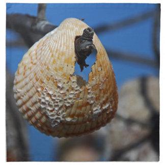 Servilleta De Tela Shell en la orilla