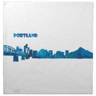 Servilleta De Tela Silueta del horizonte de Portland