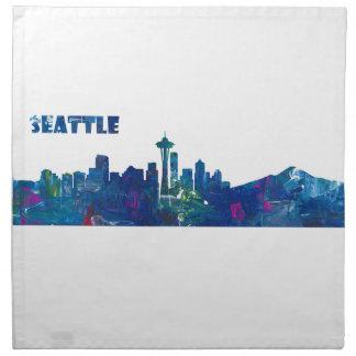 Servilleta De Tela Silueta del horizonte de Seattle