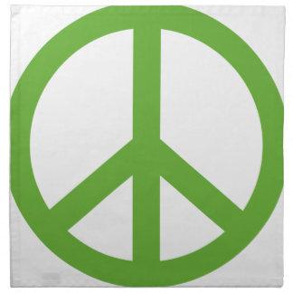 Servilleta De Tela Símbolo verde del signo de la paz
