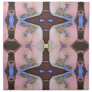 Servilleta De Tela Suavemente rosa con acentos del bígaro de Brown