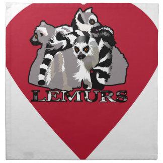 Servilleta De Tela Taza del Lemur