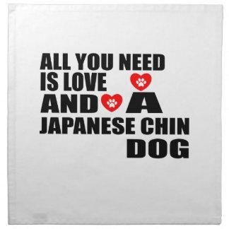 Servilleta De Tela Todos usted necesita diseños de los perros de CHIN