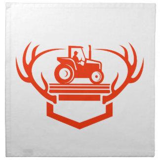 Servilleta De Tela Tractor de la asta de los ciervos de la cola