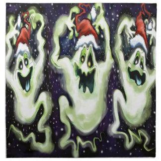 Servilleta De Tela Trío fantasmal de Navidad