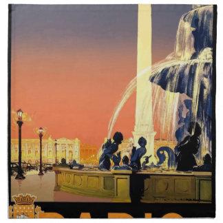 Servilleta De Tela Viaje París Francia del vintage