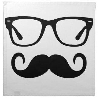 Servilleta De Tela Vidrios del inconformista y bigote del manillar