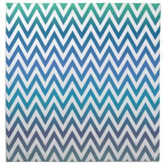 Servilleta De Tela zigzag, colorido, divertido, azul y verde