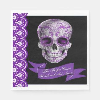 Servilleta del alumerzo del boda del cráneo servilleta de papel