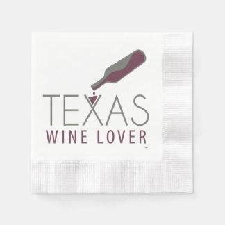 Servilleta del cóctel del amante del vino de Tejas Servilleta De Papel