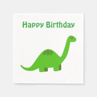 Servilleta del dinosaurio del feliz cumpleaños servilletas desechables