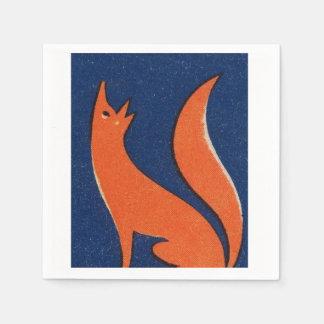 Servilleta del Fox Servilletas Desechables