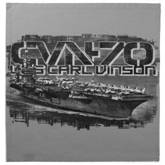 Servilleta del paño de Carl Vinson de portaaviones