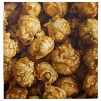 Servilleta del paño de las palomitas del caramelo