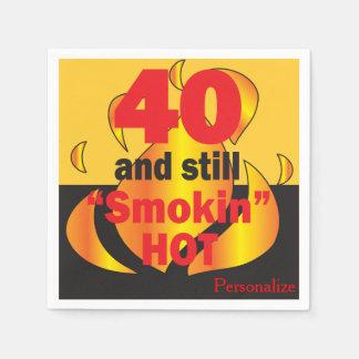 Servilleta Desechable 40 y aún Smokin calientes - 40.o cumpleaños