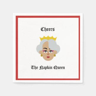 Servilleta Desechable Alegrías de la servilleta del cóctel de la reina