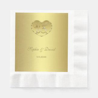 Servilleta Desechable Aniversario de boda del oro 50.o todavía HACEMOS