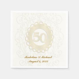 Servilleta Desechable Aniversario de oro, 50.o