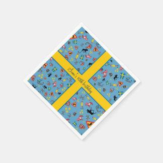 Servilleta Desechable Artículos suecos de la cultura con la bandera