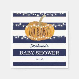 Servilleta Desechable Azul elegante de la fiesta de bienvenida al bebé