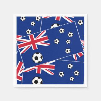 Servilleta Desechable Bandera s6 pillow.png del fútbol de Australia