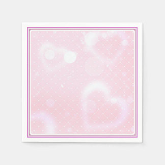 Servilleta Desechable Bonito en servilleta rosada del cóctel