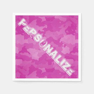 Servilleta Desechable Camo rosado