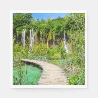 Servilleta Desechable Cascadas en el parque nacional de Plitvice en