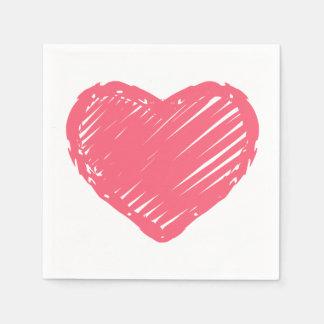 Servilleta Desechable Corazón rosado